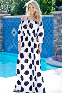 Polka Dot Maxi Dress - Obsessive Shoe Addict