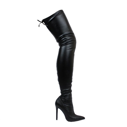 Black Thigh High Boot - Obsessive Shoe Addict