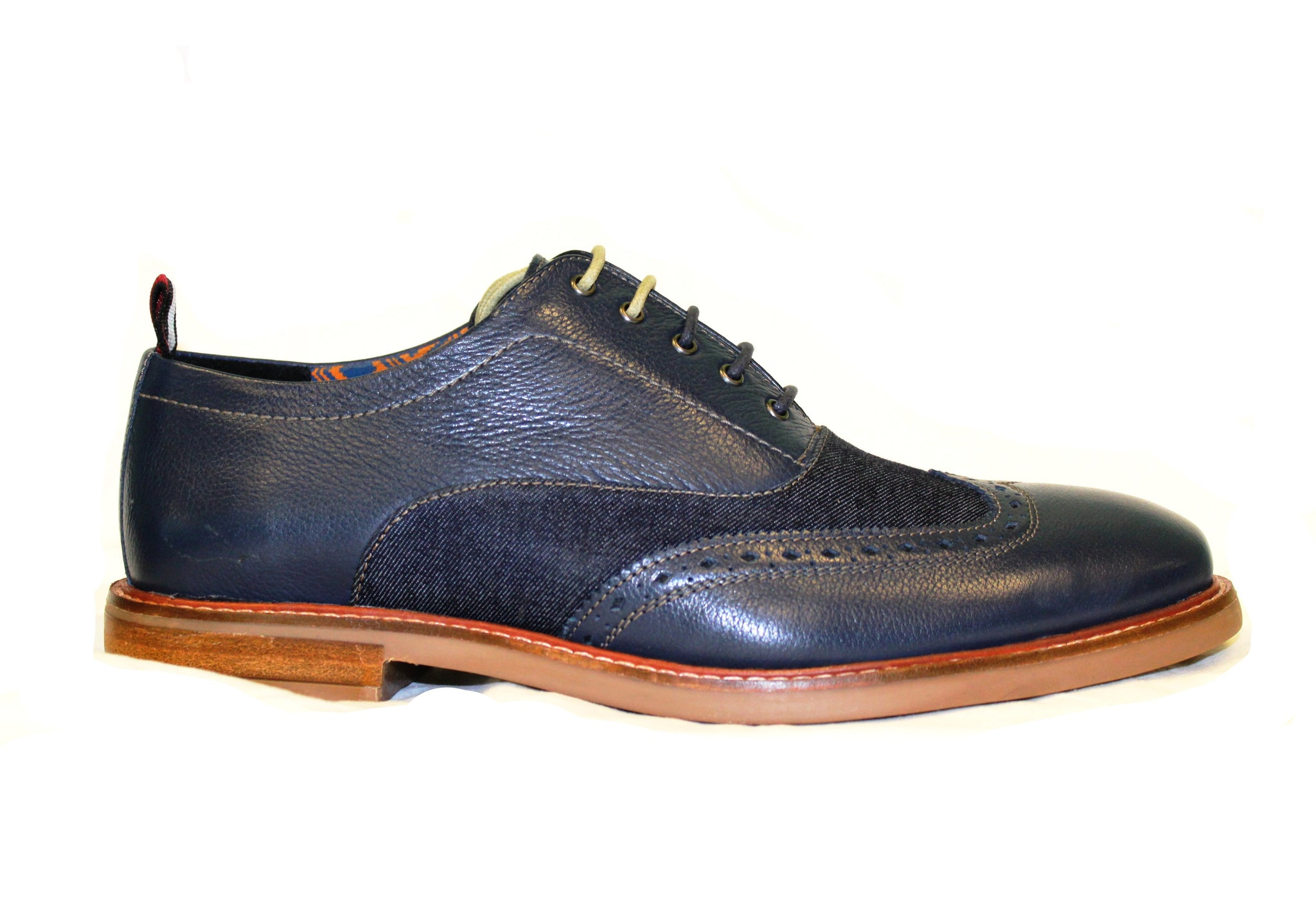 Ben Sherman Navy Birk Short Wing Men's Shoe - Obsessive Shoe Addict