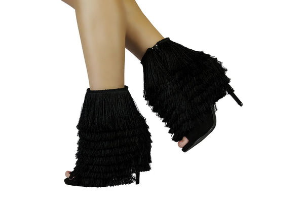 Nelly Bernal Mambo Black Fringe Bootie