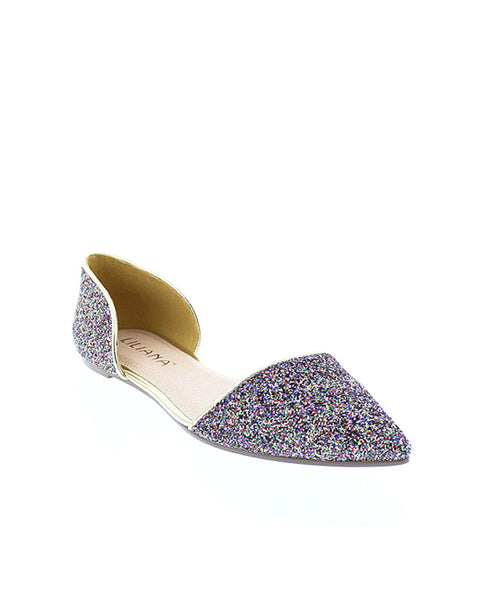 Gold and Multi Color Sparkle Flats