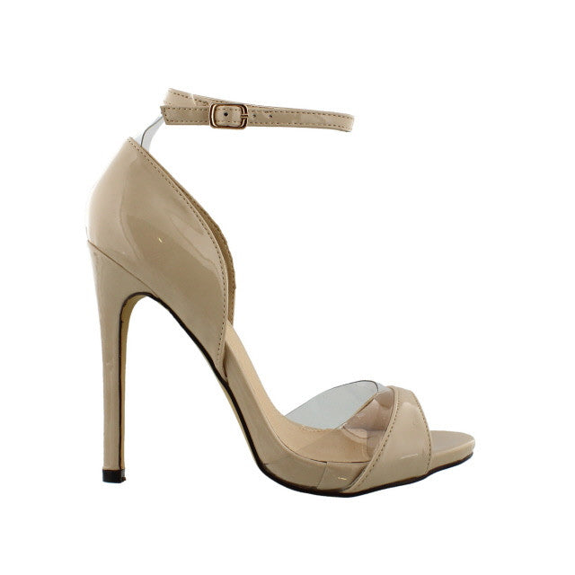 Nude Open Toe Pumps