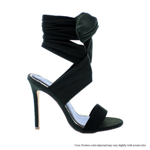 Olive Sexy Tie Me Up Ankle Heel - Obsessive Shoe Addict