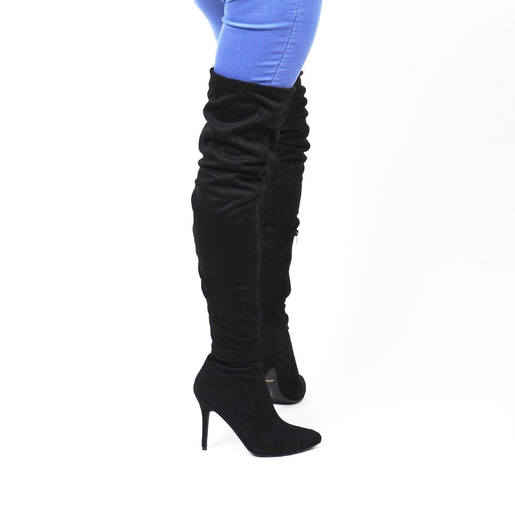 99c5911ca7c2 Black Thigh High Slouch Boots - Obsessive Shoe Addict ...