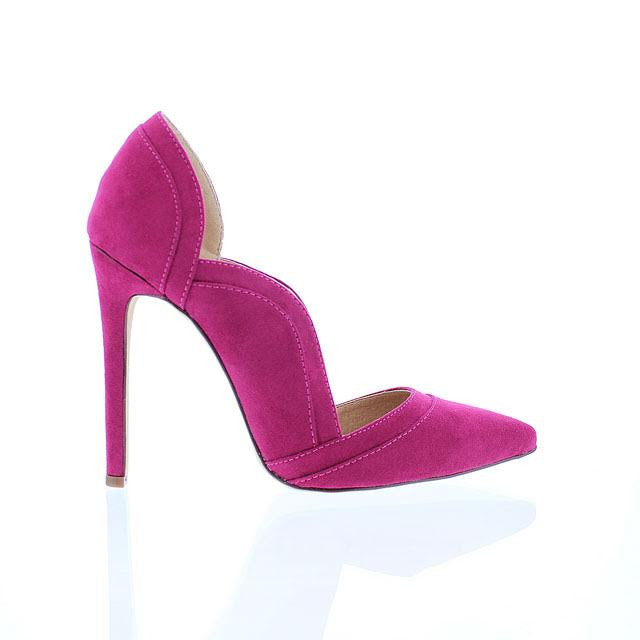 Magenta Wavy Side Pump - Obsessive Shoe Addict