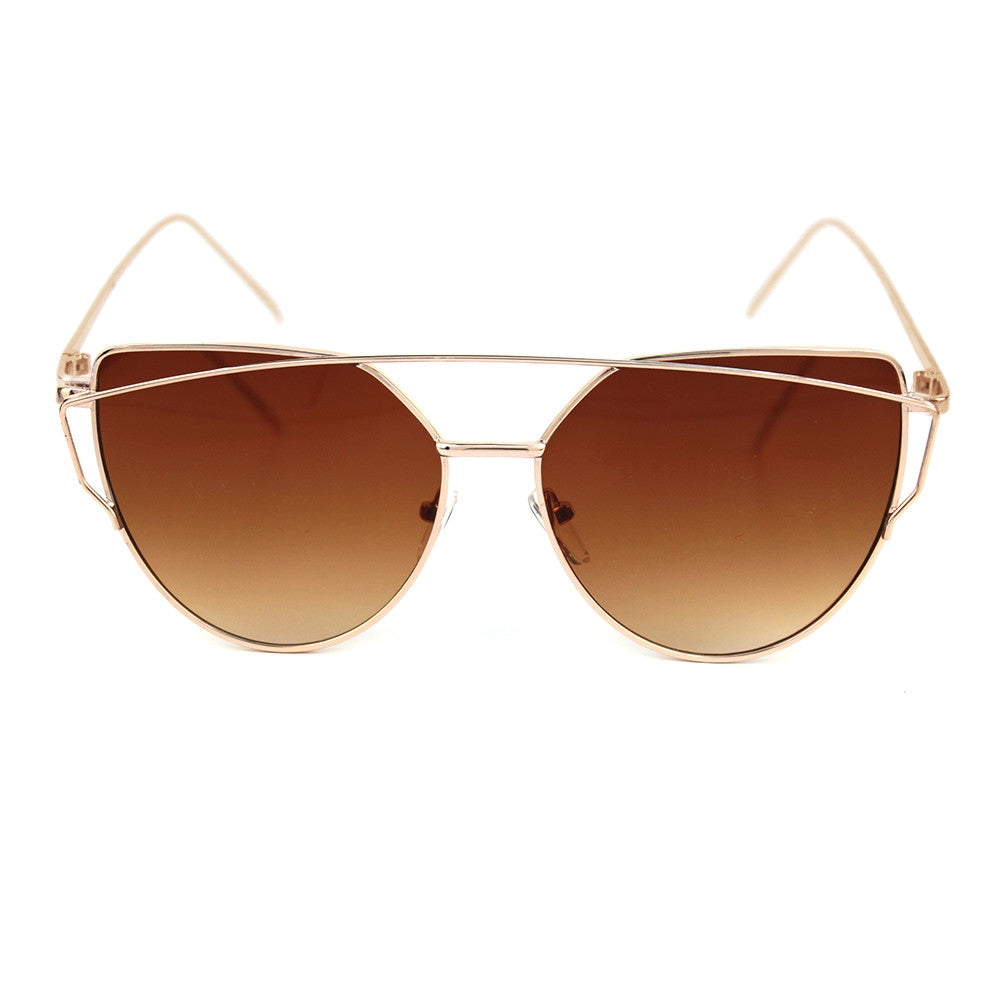 Gold Frame Fashion Sunglasses - Obsessive Shoe Addict