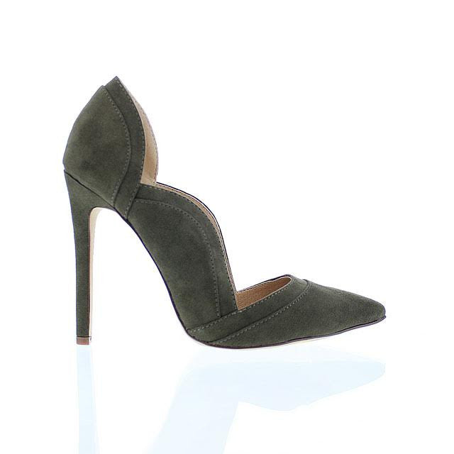 Olive Wavy Side Pump