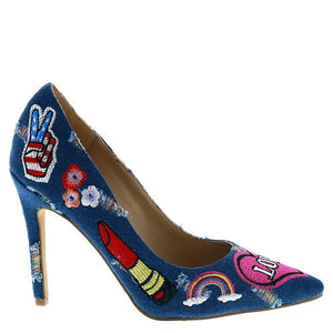 Penny Loves Kenny Mixed Blue Denim Pump - Obsessive Shoe Addict