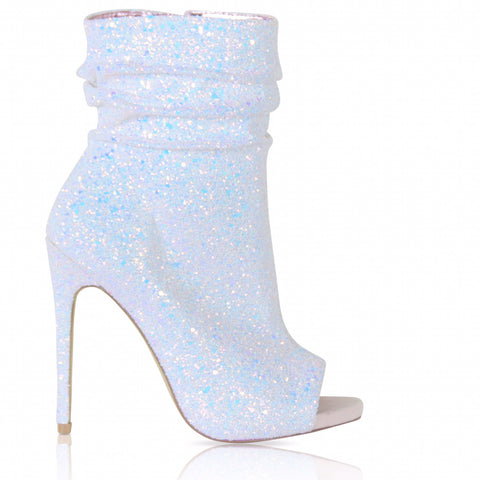 Icey Spotlight Open Toe Ankle Boot - Obsessive Shoe Addict