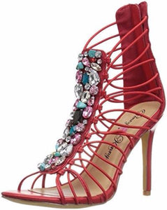 Penny Loves Kenny Dare Red Sandal - Obsessive Shoe Addict