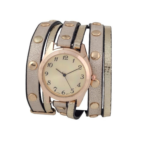 Gold Wrap Band Watch