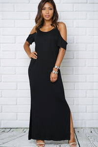 Bare Shoulder Maxi Dress - Obsessive Shoe Addict