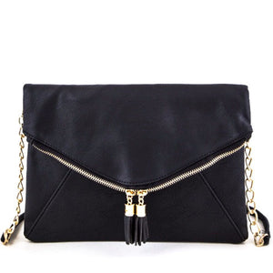 Tassel Zipper Folding Clutch - Obsessive Shoe Addict