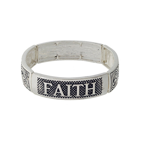 Blessed and Faith Bracelet - Obsessive Shoe Addict