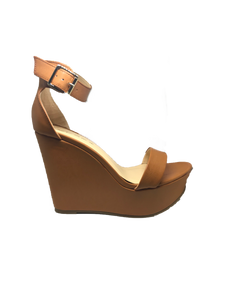 Tan Wedge Sandal - Obsessive Shoe Addict