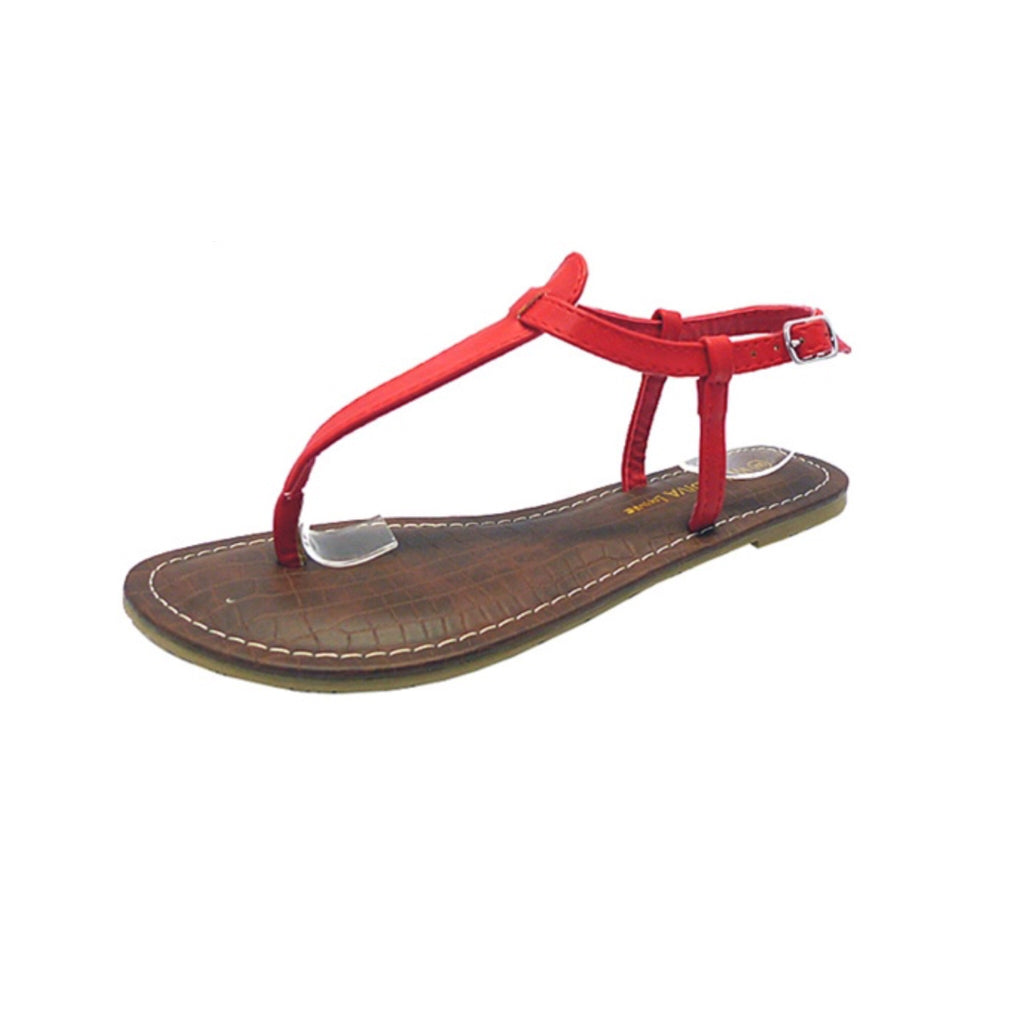Tanaya Red Thong Sandal