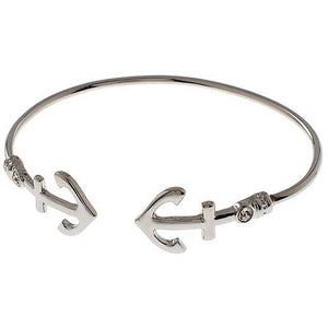 Silver Tone Anchor Bangle - Obsessive Shoe Addict