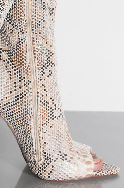 Creole Tan Snakeskin Thigh Boot - Obsessive Shoe Addict
