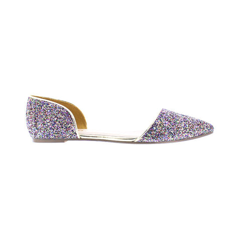 Gold and Multi Color Sparkle Flats - Obsessive Shoe Addict