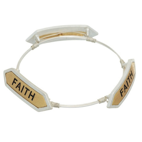 Two Tone Faith Bracelet