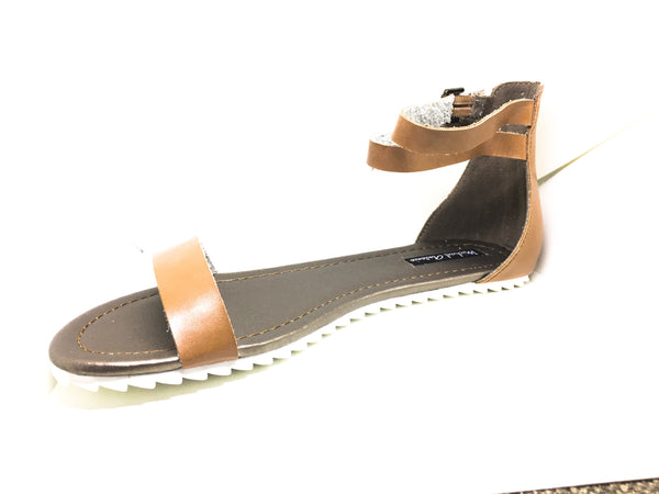 Michael Antonio Women's Denous Sandal (Tan) - Obsessive Shoe Addict