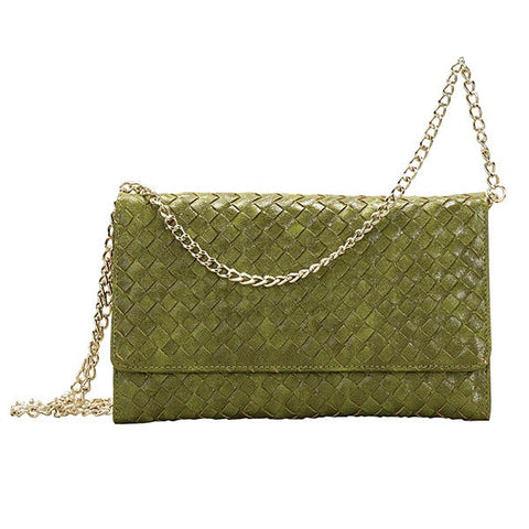 Olive Crossbody Clutch