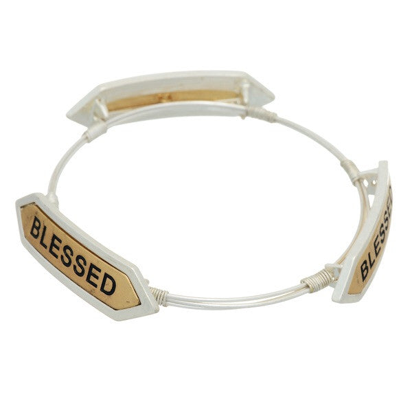 Two Tone Blessed Bracelet - Obsessive Shoe Addict