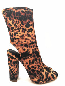 Leopard Chunky Heel Bootie - Obsessive Shoe Addict