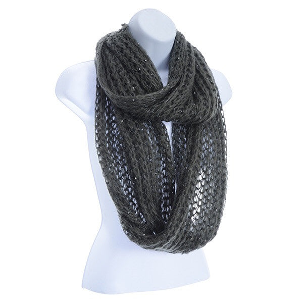 Sequined Infinity Scarf