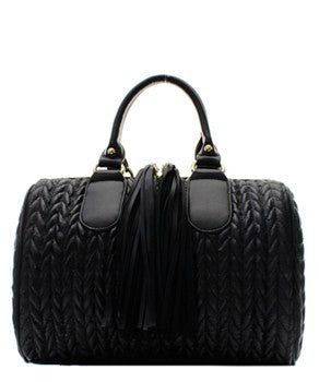 Black Tassel Handbag - Obsessive Shoe Addict