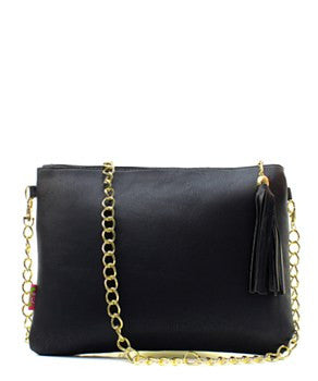 Black Chain Fashion Clutch - Obsessive Shoe Addict