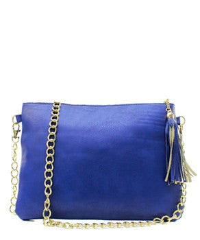 Navy Chain Fashion Clutch