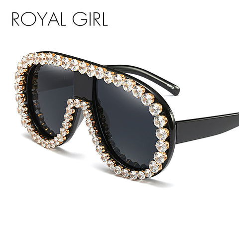 Oversized Designer Vintage Mirror Big Frame Rivet Shades - Obsessive Shoe Addict
