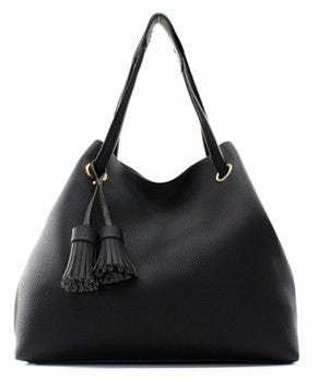 Black 2 In 1 Fashion Handbag - Obsessive Shoe Addict