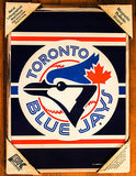 Vtg MLB Toronto Blue Jays Baseball Lithograph metal wall poster framed picture