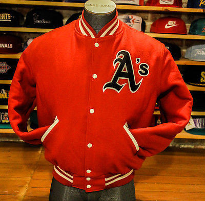 Vintage USA Oakland A's School Letterman Style campus student Hip Hop jacket