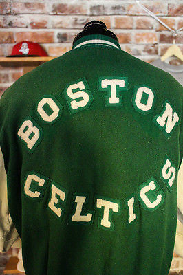 Boston Celtics Lettermen Jacket size 44 long by Delong