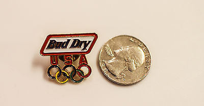 Vintage USA Olympic winter summer games bud dry light button Pinback hat pin