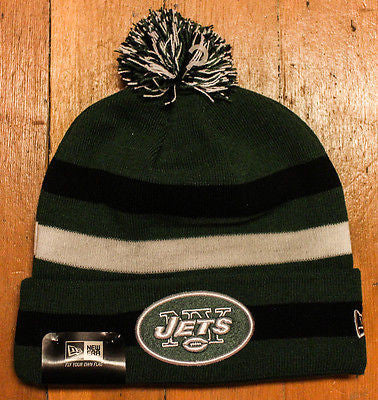 Vintage NFL NY New York City  Jets football player rad winter beanie hat cap