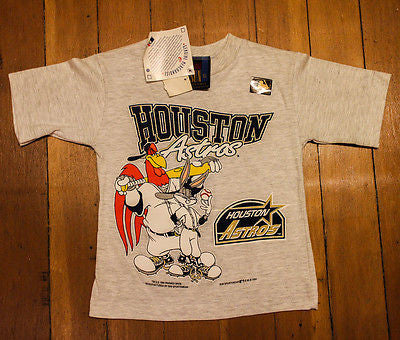 Vintage MLB Houston Astros Kids youth Baseball T shirt
