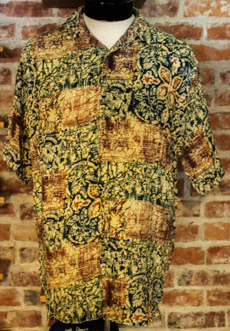 Vintage Pierre Cardin Short Sleeve Hawaiian Collared Shirt Size Large