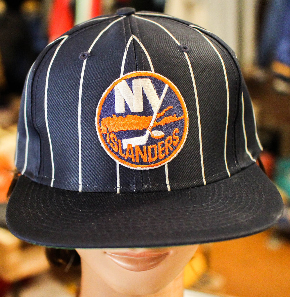 New York Islanders Pinstripe Navy Blue hat Ds w/out tags