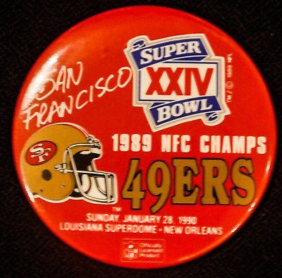 VTG San Francisco 49ers NFL Football Button