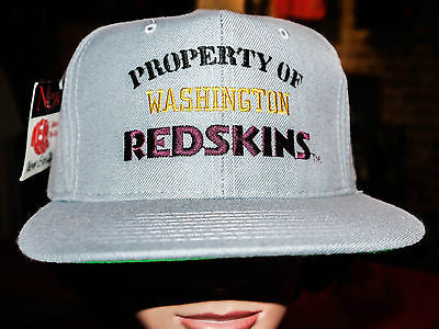 VTG DS Property of Washington Redskins NFL Football Snapback Hat cap