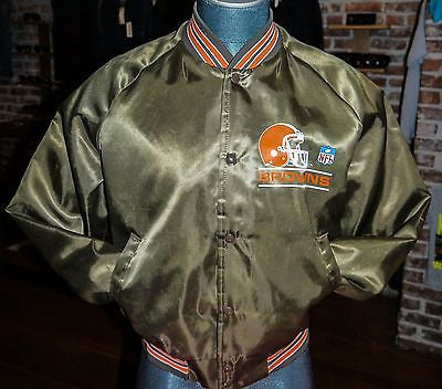 Cleveland Browns NFL Football Satin Jacket sz L