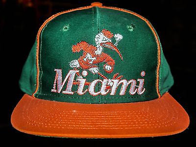 VTG Miami Hurricanes NCAA football snabackp hat cap