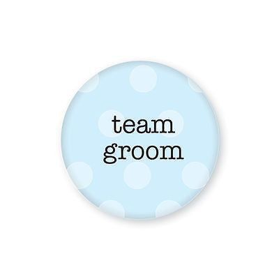 PACK OF 10 Team Bride & Team Groom Button Badges 38mm - Promofix Gifts   - 1