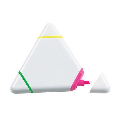 PACK OF 10 Triangle Shaped Highlighters - Promofix Gifts