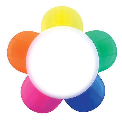 PACK OF 5 Flower Shaped Highlighter Pens - Promofix Gifts