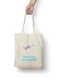 Glitter and Unicorns Cotton Tote Bag - Promofix Gifts